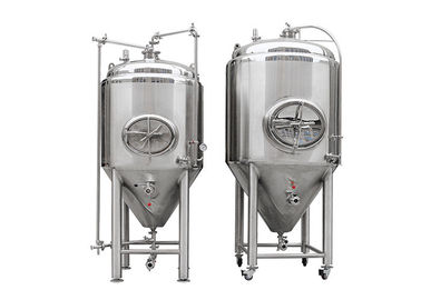China 10HL Polished Stainless Steel 304 Cylindro Conical Fermenter With Side Manway distributor