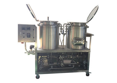 China 1BBL Pilot Beer Brewing System Mirror Polished Interior Shell SS304 Steam Heating factory