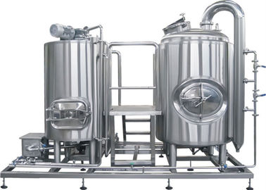 China CE / ISO 1000L Professional Brewing Equipment SUS304 PLC Control Steam Heating distributor