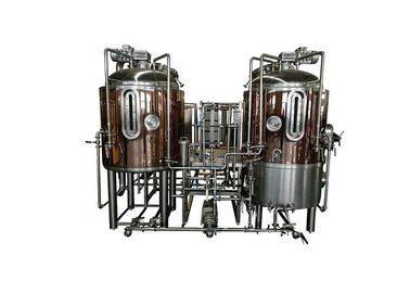 China Red Copper Brewpub Equipment 500L Automatic Controlling With Electricity Heating distributor