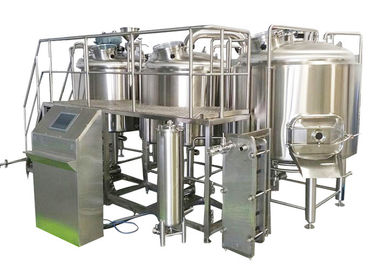 China 1000L Professional Brewing Equipment 316 Stainless Steel With Three Boiling Kettles factory