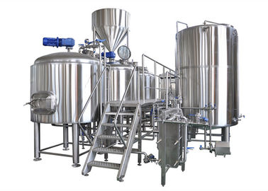 China Semi - Auto Control Large Brewing Equipment 10BBL With Steam / Gas Heating distributor