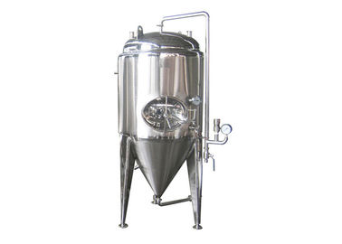 China 1000L Top Side Conical Beer Fermenter Stainless Steel with Cooling Jackets factory