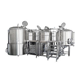 China 500L Small Brewery Equipment SS316 Glycol Cooling Jacket With Semi Automatic distributor