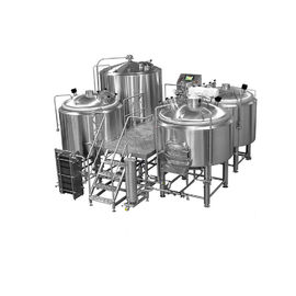 China 1000L 2000L Stainless Steel 304 Mirror Polish Three Vessel Brewhouse For Craft Beer Brewing Equipment distributor