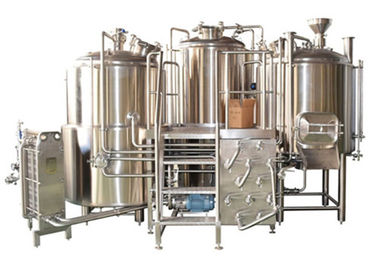 China Customized Stainless Steel 3 Vessel Brewhouse With 50-100mm PU Insulation distributor