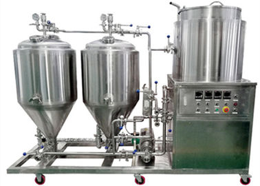 China Conical 50 - 200L Pub Brewing System Small Brewery Equipment For Pub , Hotel distributor
