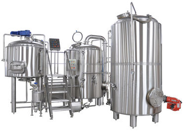 China 50-5000L Clean And Polish 2 Vessel Brewhouse Brewing Equipment Steel True Color distributor