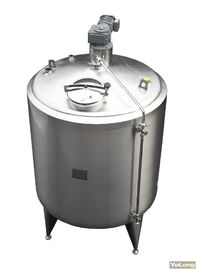 China 1500L Stainless Steel Insulated Liquid Mixing Tank Agitator Blending Vessel For Mik Factory distributor