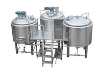 304 Stainless Steel 3 Kettle Brew System Electric Brewing 10BBL With CIP Cleaning