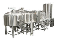 Electric Heating 4 Vessel Brewhouse 3000L Industrial Beer Plant With PLC Control