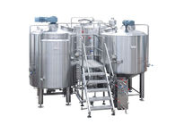 30BBL 3 Vessel Brewhouse / Beer Making Equipment 3000L Steam Heating PLC Control