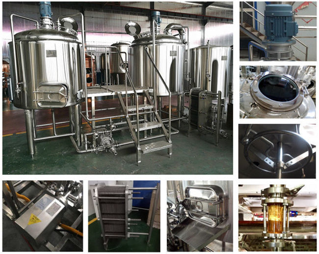 Electric Brewery 2500L Three Vessel Brewing System For Automatic Beer Fermentation