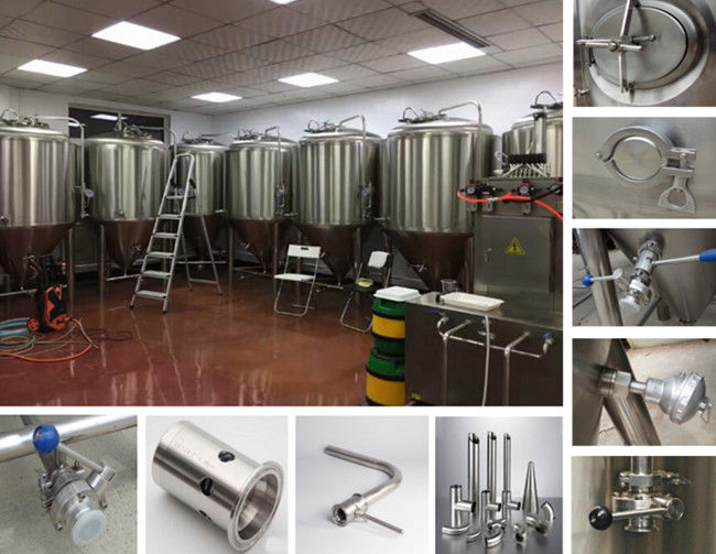 7BBL Craft Brewing Equipment SS304 Material For Beer Fermentation CE Certification